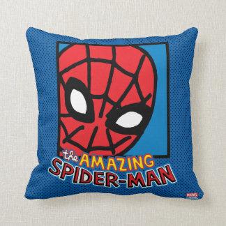 Pop Spider-Man Block with Logo Throw Pillow
