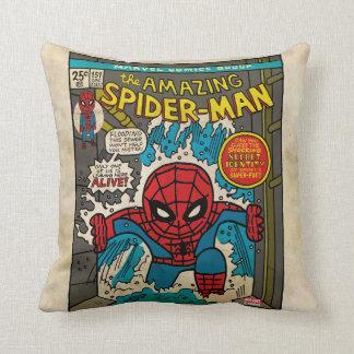 Pop Spider-Man Comic Cover #151 Throw Pillow
