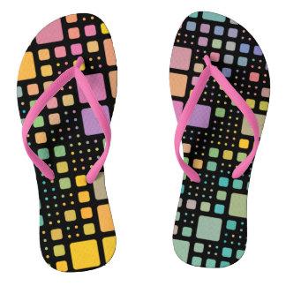 Pop Squares Flip Flops