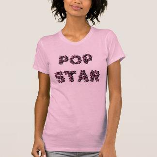 Pop Star - female pink 2fer T-shirt