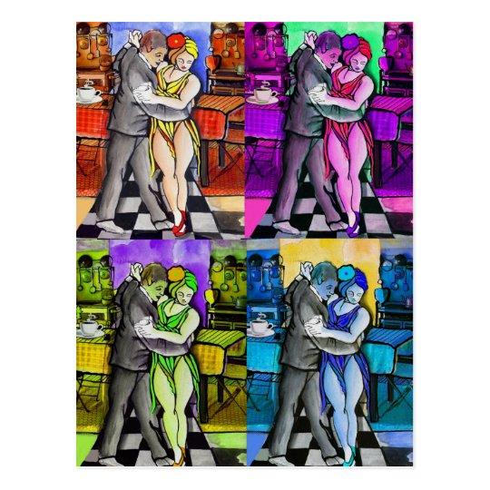 Pop Tango Dancing Postcard