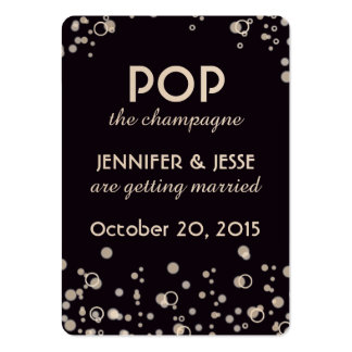 Pop the Champagne - Save The Date Tag Large Business Card