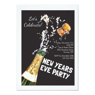 Pop the Cork on New Year's Eve Invitation
