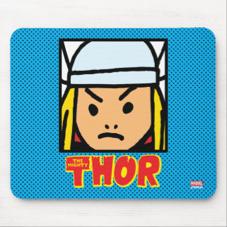 Pop Thor Character Block with Logo Mouse Pad