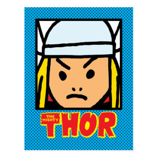 Pop Thor Character Block with Logo Postcard