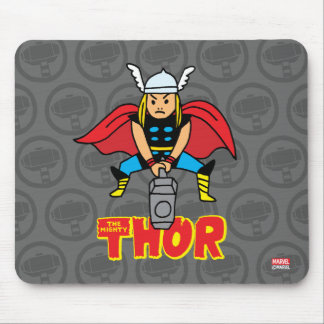 Pop Thor with Logo Mouse Pad