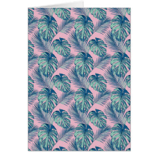 Pop Tropical Leaves Seamless Pattern Series 1 Card