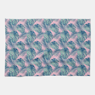 Pop Tropical Leaves Seamless Pattern Series 1 Kitchen Towel