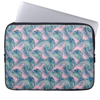 Pop Tropical Leaves Seamless Pattern Series 1 Laptop Sleeve