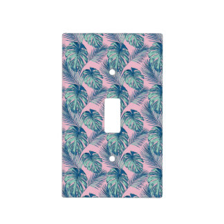 Pop Tropical Leaves Seamless Pattern Series 1 Light Switch Cover