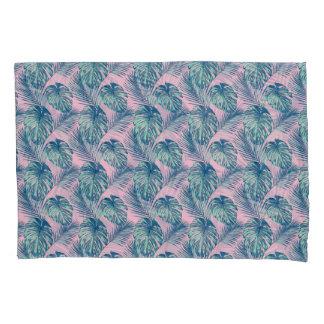 Pop Tropical Leaves Seamless Pattern Series 1 Pillowcase