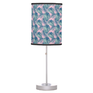 Pop Tropical Leaves Seamless Pattern Series 1 Table Lamp