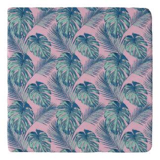 Pop Tropical Leaves Seamless Pattern Series 1 Trivet