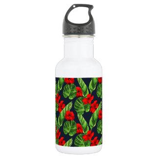 Pop Tropical Leaves Seamless Pattern Series 3 532 Ml Water Bottle