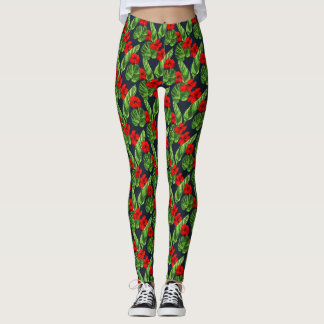 Pop Tropical Leaves Seamless Pattern Series 3 Leggings