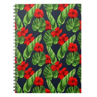 Pop Tropical Leaves Seamless Pattern Series 3 Notebook