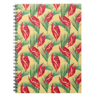 Pop Tropical Leaves Seamless Pattern Series 4 Notebook