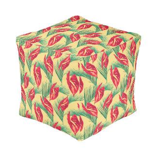 Pop Tropical Leaves Seamless Pattern Series 4 Pouf