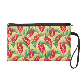 Pop Tropical Leaves Seamless Pattern Series 4 Wristlet