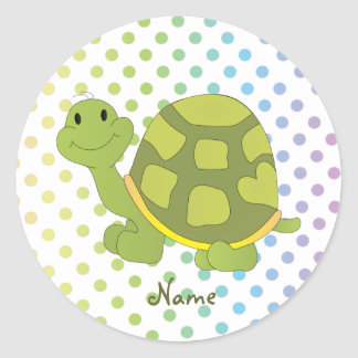 Pop Turtle Sticker! Classic Round Sticker
