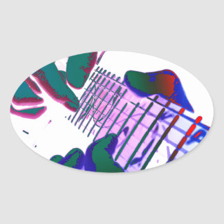 Pop type de Guitar Ing tâtonner Sticker Ovale