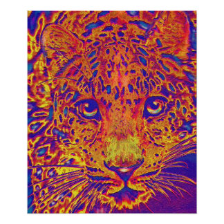 popart leopard poster