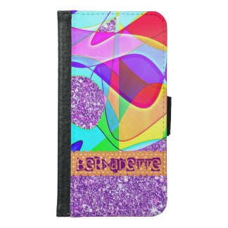 PopArt Name Bright Abstract Purple Glitter Effect