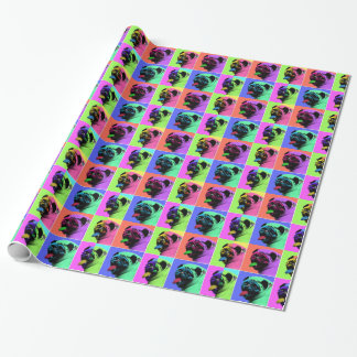 POPART PUG WRAPPING PAPER