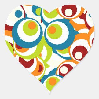 Popart sample heart sticker