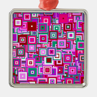 Popart sample metal ornament