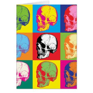 Popart skulls greeting cards