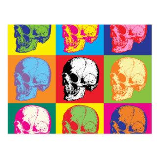 Popart skulls post card