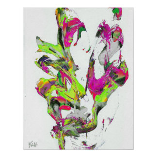 PoPArt Style Abstract Expressionism Art Print
