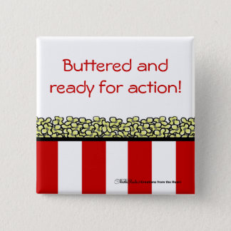 Popcorn 2 Inch Square Button