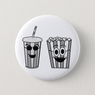 popcorn and soda 2 inch round button