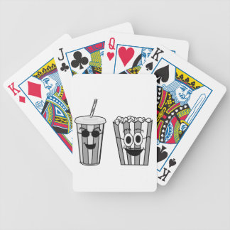 popcorn and soda bicycle playing cards