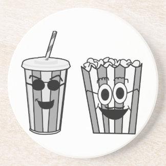 popcorn and soda coaster