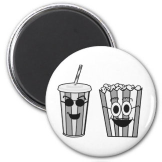 popcorn and soda funny magnet
