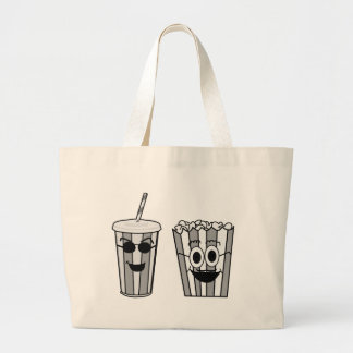 popcorn and soda large tote bag