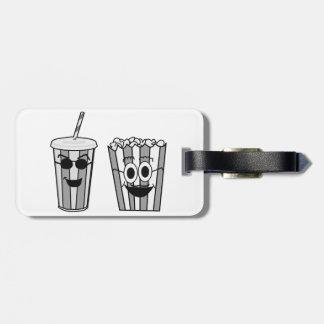 popcorn and soda luggage tag