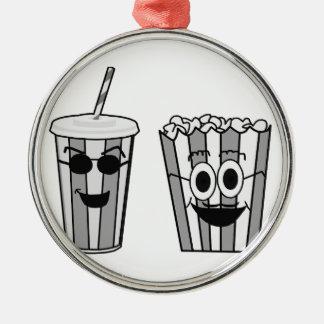 popcorn and soda metal ornament