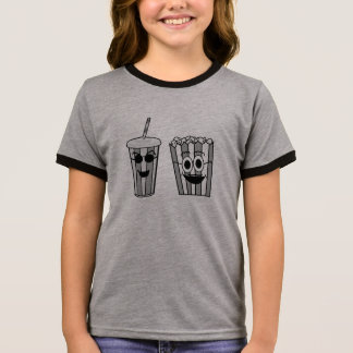 popcorn and soda ringer T-Shirt