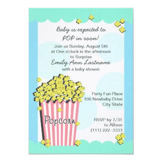 "Popcorn Baby Shower 5"" X 7"" Invitation Card"