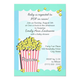 Popcorn Baby Shower Card