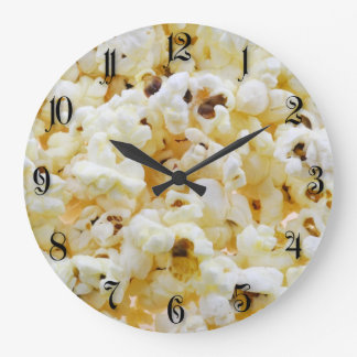 Popcorn background large clock