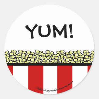 Popcorn Classic Round Sticker