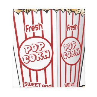 popcorn corn snack food movie night fun notepad