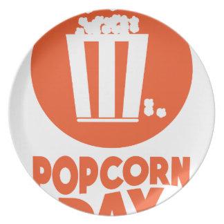 Popcorn Day - Appreciation Day Dinner Plates