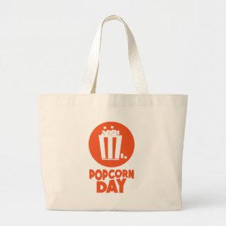 Popcorn Day - Appreciation Day Large Tote Bag
