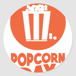 Popcorn Day - Appreciation Day Round Sticker